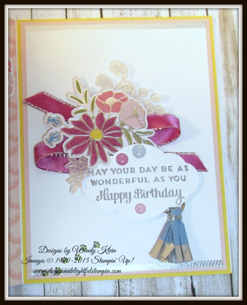Cake Soiree  Sweet Cake Framelits  Sweet Soiree Embellishments Kit  Petal Pair TIEF  Flip Fold Card - 4