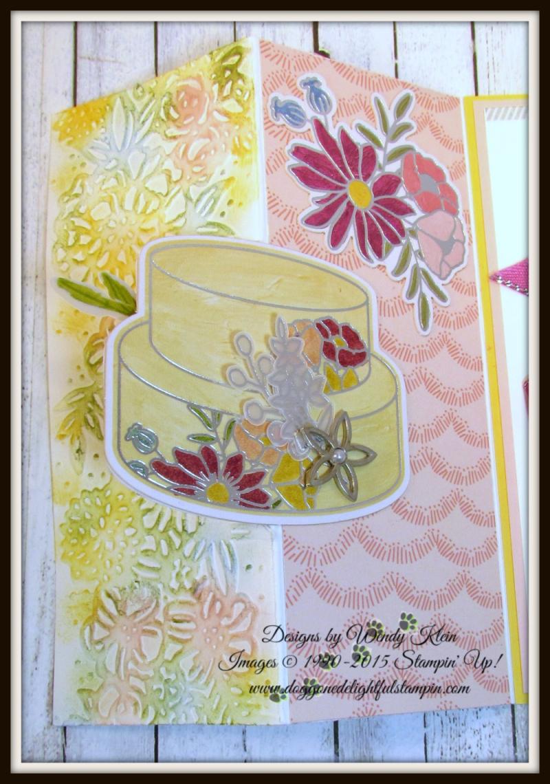 Cake Soiree  Sweet Cake Framelits  Sweet Soiree Embellishments Kit  Petal Pair TIEF  Flip Fold Card - 5