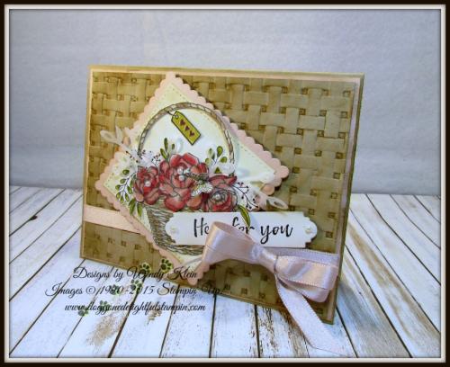 Blossoming Basket  Petals & More Thinlits  Layeirng Squares  Stitched Shapes Framelits  Stampin' Blends - 5