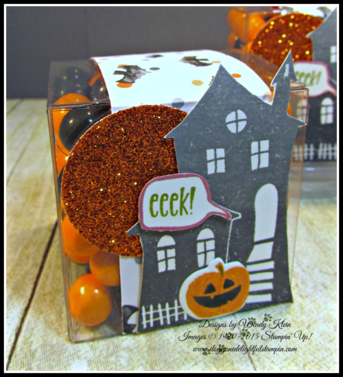 Bakers Box Thinlits, Clear Tiny Treat Boxes, Spooky Fun, Halloween Scares, Halloween Scenes Edgelits, Pumpkin Pie Glimmerr, Halloween Night SDSP, Enamel Dots & Bakers Twine, Mini Tassels (7)