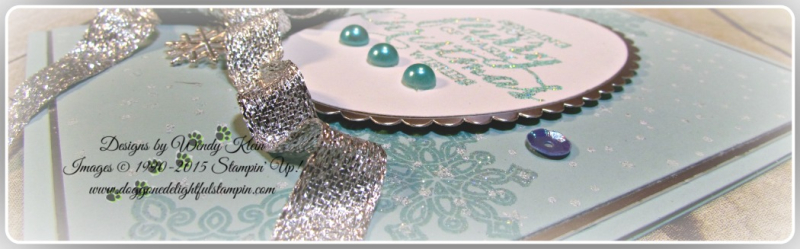 Flurry of Wishes, Holly Jolly Greetings, Layering Ovals, Silver Glitter Ribbon (5)