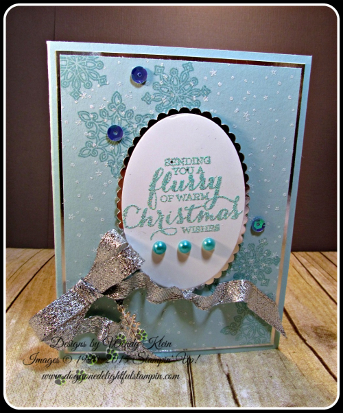 Flurry of Wishes, Holly Jolly Greetings, Layering Ovals, Silver Glitter Ribbon (1)