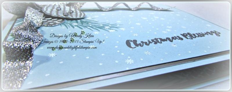 Christmas Pines, Pretty Pines Thinlits, Silver Glitter Ribbon, embossing (7)
