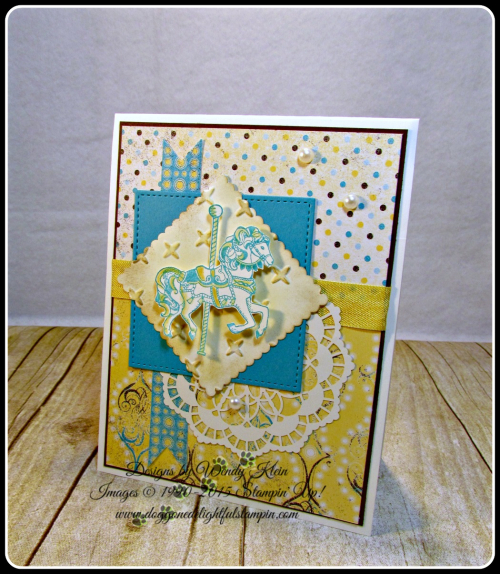 Carousel Birthday, Cupcakes & Carousels DSP, Layering Squares, Stitched Shapes framelits, Lace Doilies, Sparkle TIEF (1)