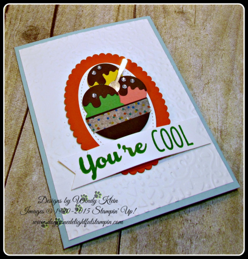 Cool Treats, Confetti TIEF, Layering Ovals framelits, Stitched Shapes Framelits, Frozen Treats framelits, Banner Triple Punch (3)