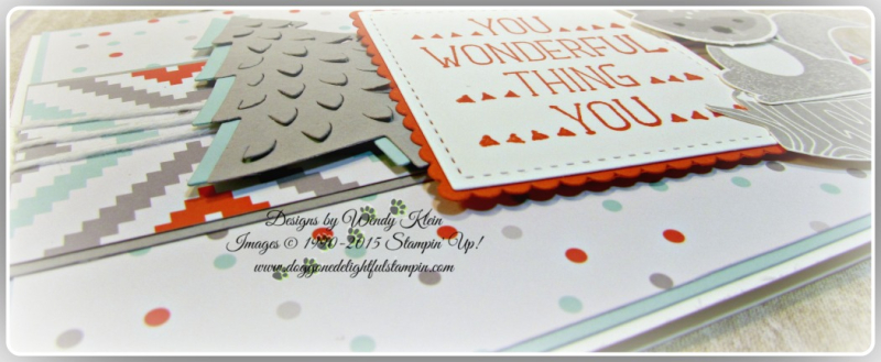Foxy Friends, Suite Sayings, A Little Foxy DSP, Stitched Shapes Framelits, Layering Squares framelits, Perfect Pines framelits, Fox Builder Punch, Stampin Up, Wendy Klein (5)