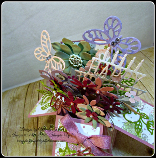 Pop Up Box Card, Succulent Framelits, Botanicals Builder Framelits, Butterfly Framelits, Party Pop-Up Thinlits, Stampin Up, Wendy Klein (3)