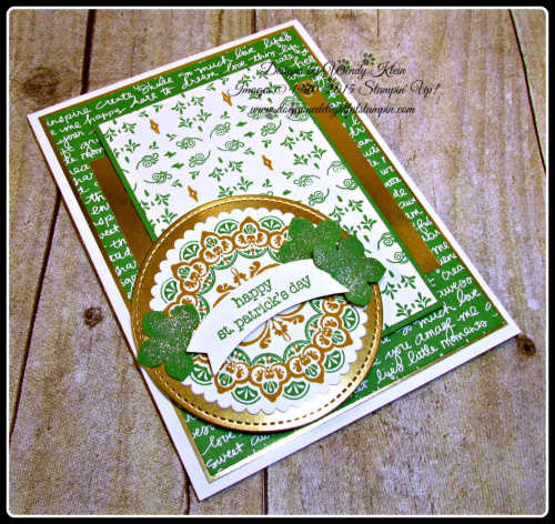 Make a Medallion  Teeny Tiny Wishes  Stitched Shapes Framelits  Layering Circles Framelits  Petite Petals Punch  Duet Banner Punch  Wendy Klein  Stampin Up (5)