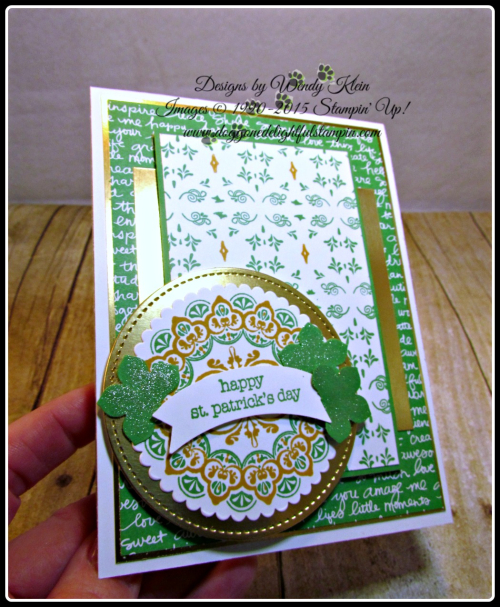 Make a Medallion  Teeny Tiny Wishes  Stitched Shapes Framelits  Layering Circles Framelits  Petite Petals Punch  Duet Banner Punch  Wendy Klein  Stampin Up (7)