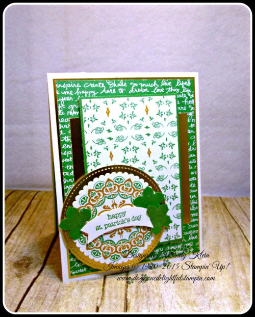 Make a Medallion  Teeny Tiny Wishes  Stitched Shapes Framelits  Layering Circles Framelits  Petite Petals Punch  Duet Banner Punch  Wendy Klein  Stampin Up (8)