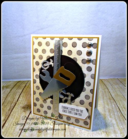 Nailed It  Suite Sentiments  Build It Framelits  Stitched Shapes Framelits  Large Polka Dot TIEF  Urban Underground DSP  Urgan Underground Embellishments (1)