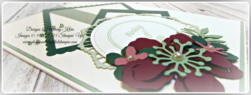 Botanical Builder Framelits  That's the Tag  Stitched Shapes Framelits  Layering Squares Framelits  Mint Macaron Mini Striped Ribbon  Lace Doilies  Pearls (5)