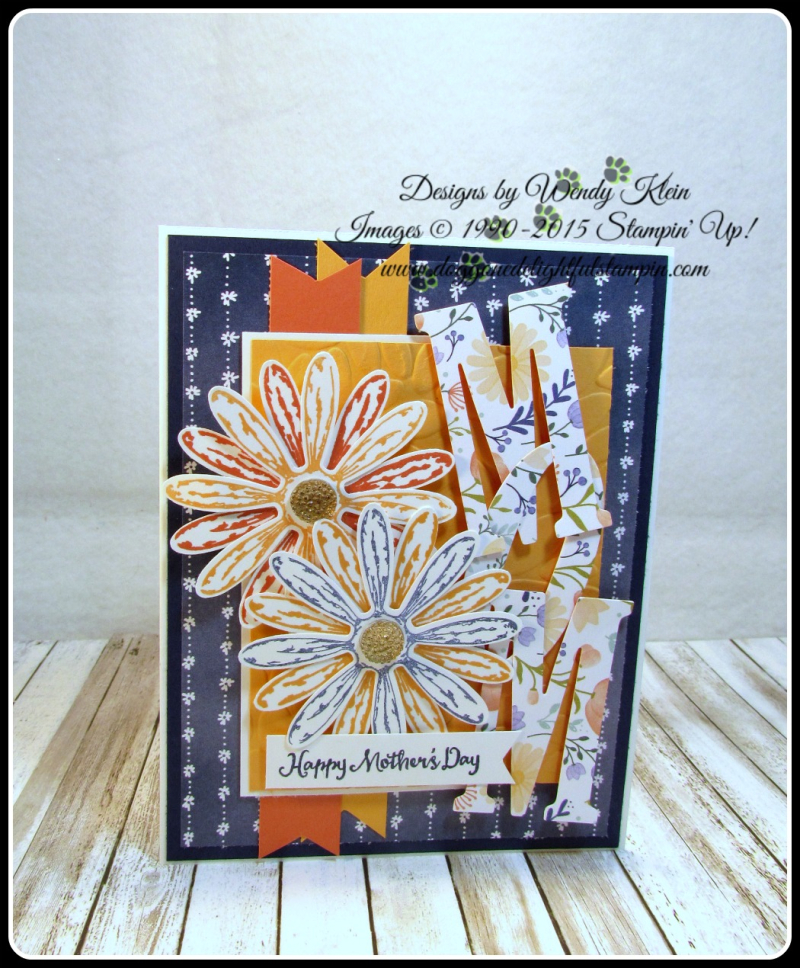 Daisy Delight  Oh So Succulent  Birthday Blossoms  Daisy Punch  Delightful Daisy DSP  Large Letters framelits  Petal Burst TIEF  Gold Faceted Gems (1)