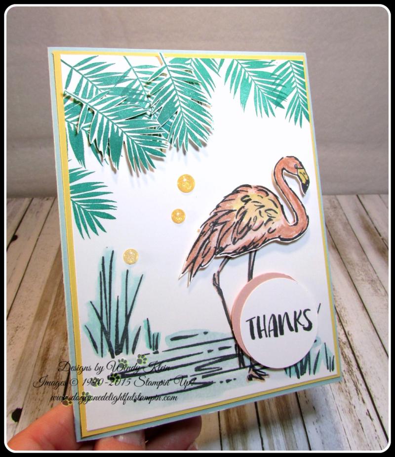 Fabulous Flamingo  Clear Wink of Stella  Glitter Enamel Dots  watercolor (8)