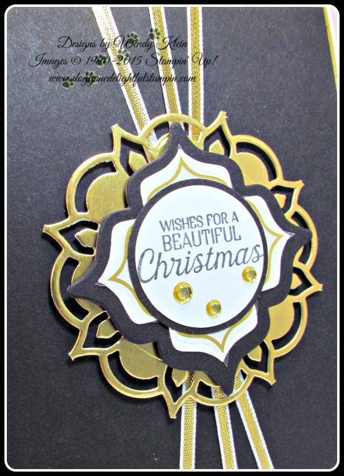 Eastern Beauty  Nature Sings  Holly Berry Happiness  Eastern Meallions Thinlits  Gold Vinyl Stickers  Gold Metallics Shapes  Gold Ribbon  Gold Foil - 7
