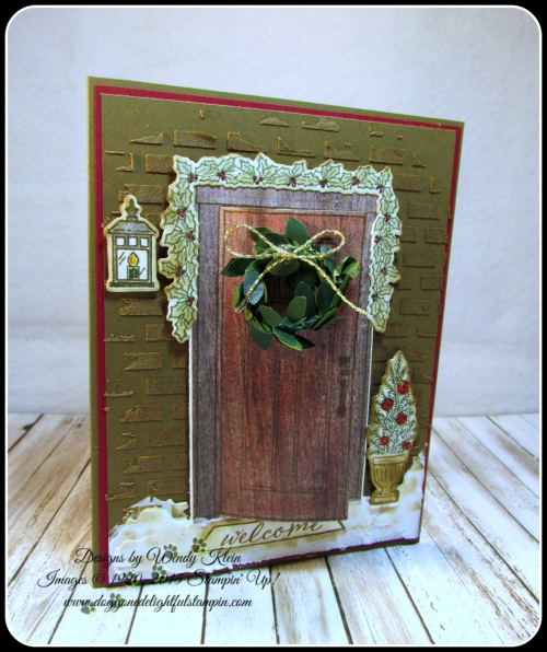 At Home With You  At Home Framelits  Embossing Paste  Wood Textures DSP  Boxwood Wreaths - 7