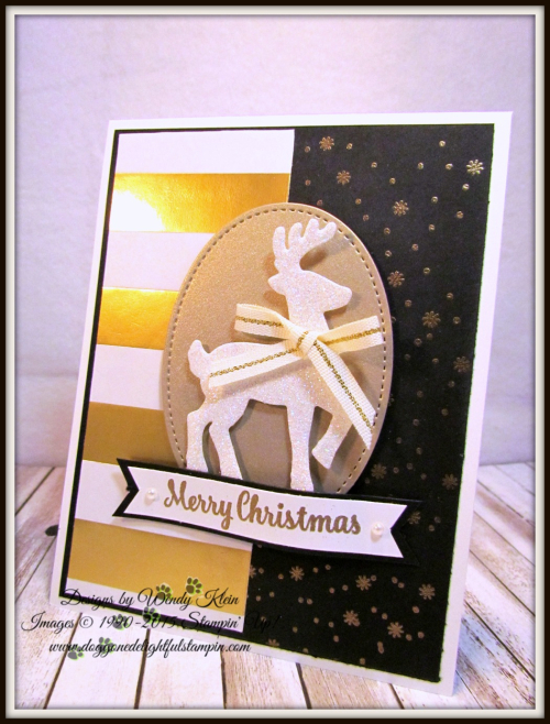 Christmas Pines  Star of Light  Striped Treat Bags  Gold embossing  Stitched Shapes Framelits  Santa's Sleigh Thinlits - 3