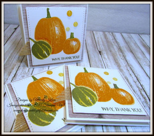 Gourd Goodness  Wood Textures DSP  Stitched Shapes Framelits  Burlap Ribbon  Glitter Enamel Dots - 3