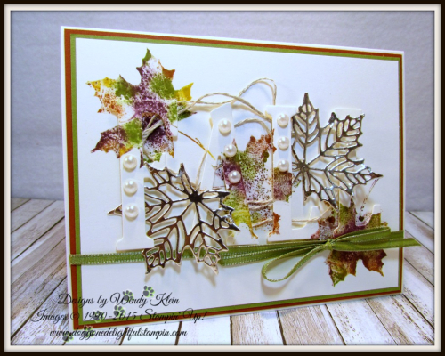 Large Letters Framelits  Colorful Seasons  Seasonal Layers Thinlits  Champagne Foil  Babywipe Technique  stampinup - 2