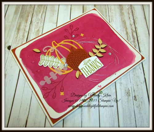 Pick a Pumpkin  Labels to Love  Patterned Pumpkins Thinlits  Touches of Nature Elements  Silver Metallic Thread - 4