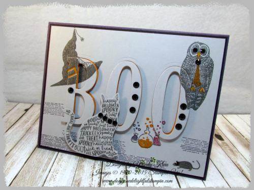 Spooky Cat  Cat Punch  Large Letters Framelits - 3