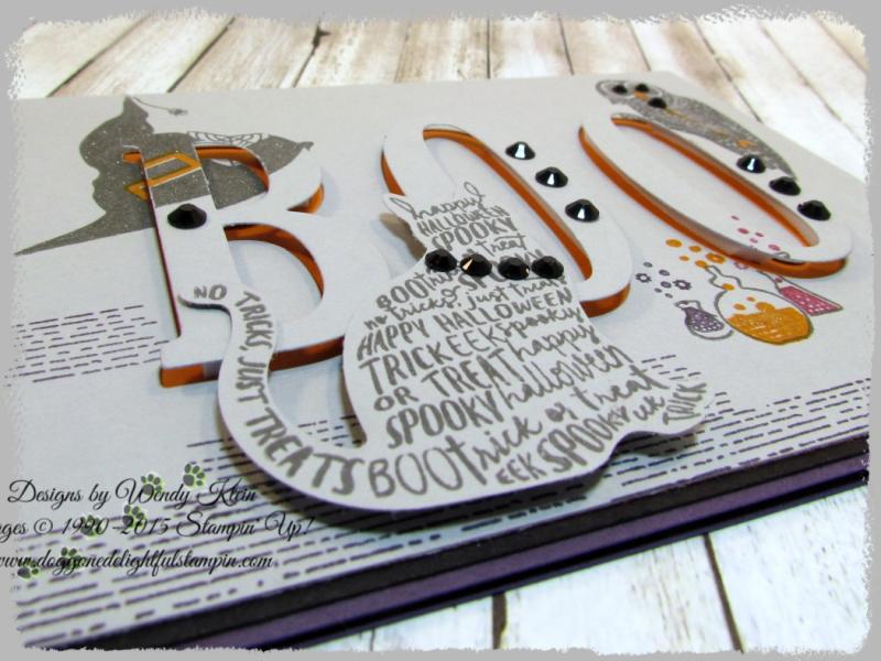 Spooky Cat  Cat Punch  Large Letters Framelits - 6