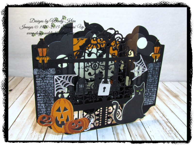 Graveyard Gate  Season to Sparkle  Detailed Gate Thinlits  Lots of Labels framelits  Spooky Night DSP - 1