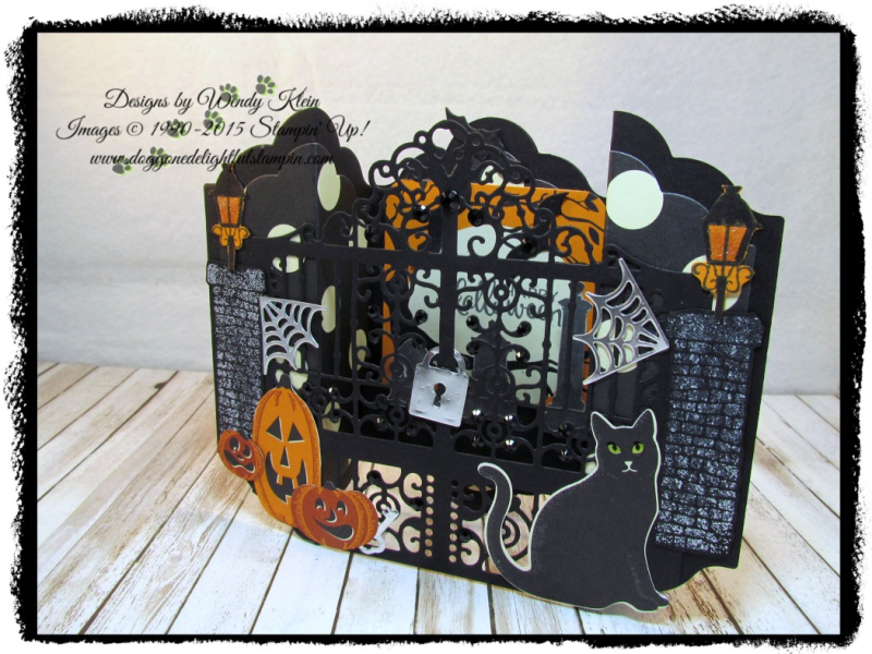Graveyard Gate  Season to Sparkle  Detailed Gate Thinlits  Lots of Labels framelits  Spooky Night DSP - 2