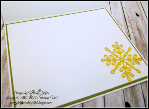 Christmas in the Making  Stampin Blends  Old Olive 14 Stitched-Edge Ribbon  Pearls Swirly Snowflake Thinlits - 3