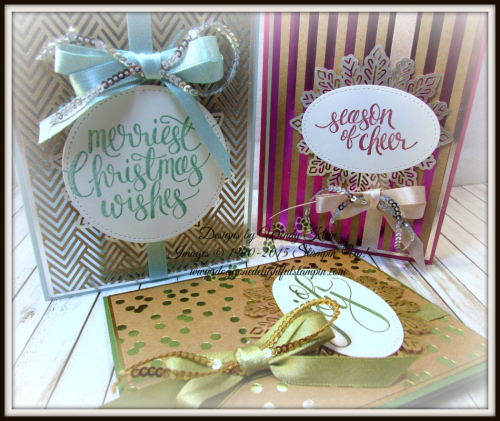 Watercolor Christmas Foil Frenzy card collection - 2