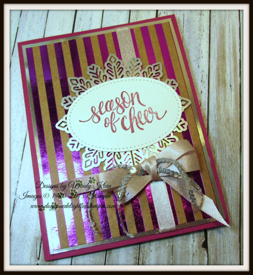 Watercolor Christmas Foil Frenzy card collection - 4