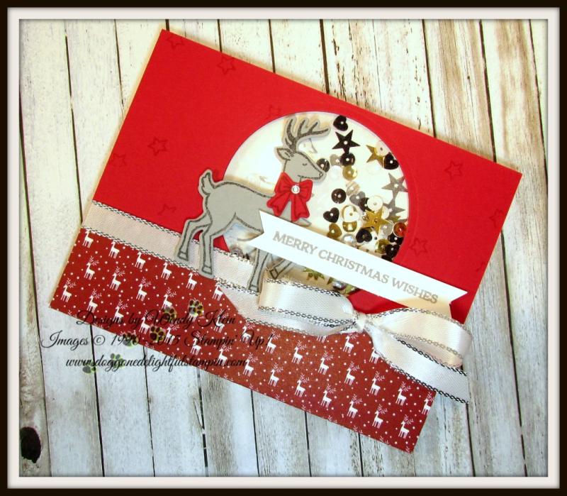 Santa's Sleigh Shaker Card CASE - 4