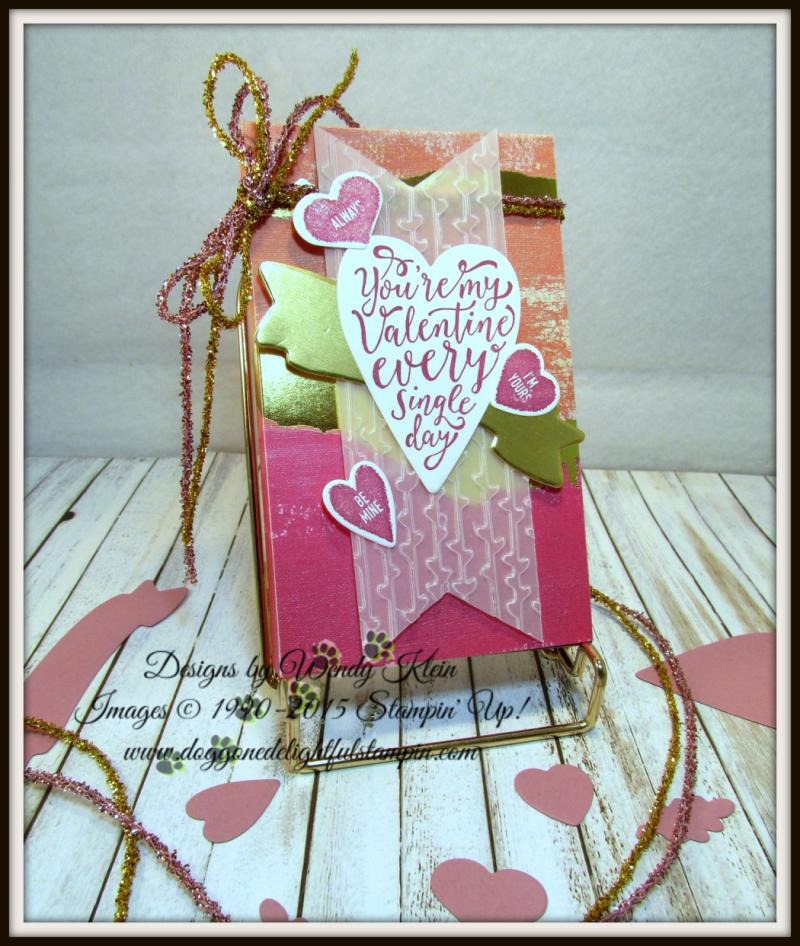 Sure Do Love You  Painted Love SDSP  Petal Pair TIEF  Love Mini Tinsel Trim - 1