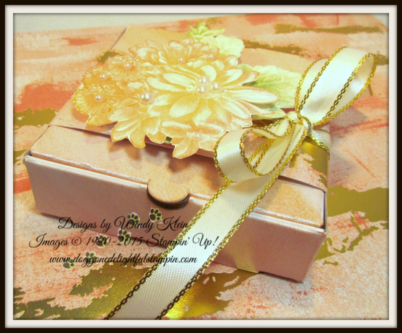 Heartfelt Blooms  Pizza Box  3 x 3 notecards  Painted With Love SDSP - 1