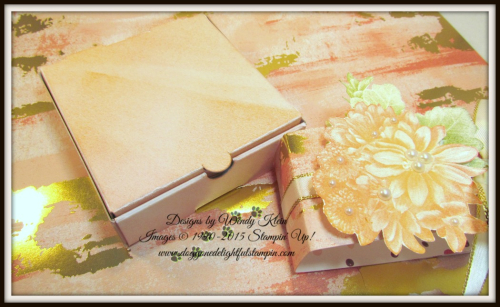 Heartfelt Blooms  Pizza Box  3 x 3 notecards  Painted With Love SDSP - 3
