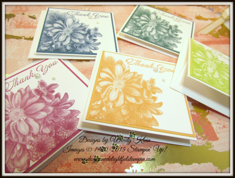 Heartfelt Blooms  Pizza Box  3 x 3 notecards  Painted With Love SDSP - 6