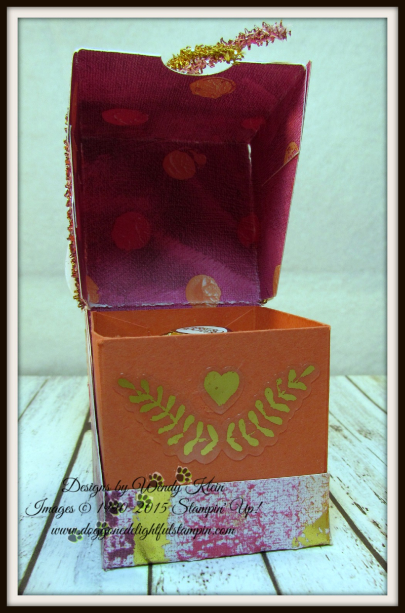 Painted With Love Diagonal-Lidded Treat Box - 3
