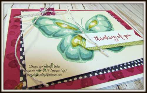 Beautiful Day  Stampin' Blends  Birthday Mini Binder Clips  Silver Baker's Twine  Lemon Lime Twist Mini Striped Ribbon - 4