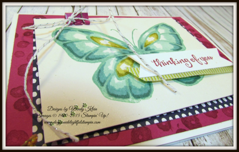 Beautiful Day  Stampin' Blends  Birthday Mini Binder Clips  Silver Baker's Twine  Lemon Lime Twist Mini Striped Ribbon - 4