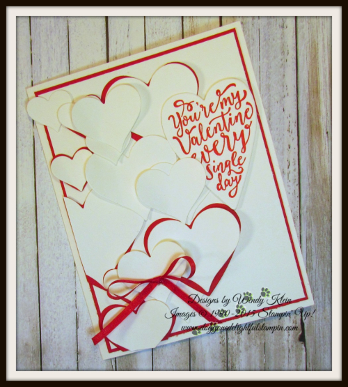 Sure Do Love You  Love You Still  Lots to Love Box Framelits  Sweet & Sassy Framelits  Real Red Solid Ribbon - 4