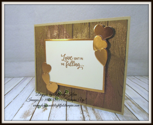 Masculine Valentine with Sliding Door Framelits  Lots to Love Box Framelits  Pinewood Planks Dynamic TIEF  Gold emboss powder  Copper emboss powder - 1