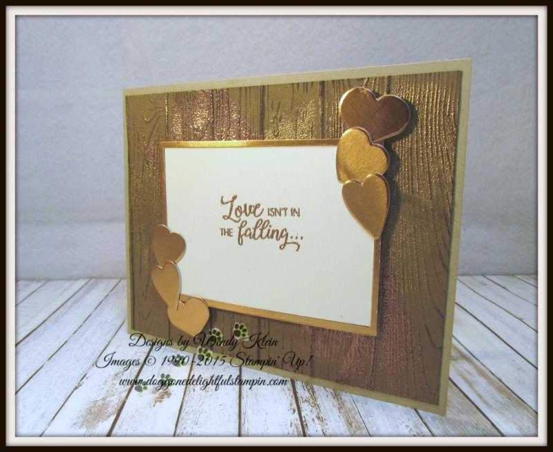 Masculine Valentine with Sliding Door Framelits  Lots to Love Box Framelits  Pinewood Planks Dynamic TIEF  Gold emboss powder  Copper emboss powder - 1