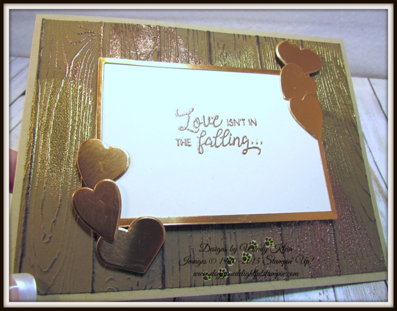 Masculine Valentine with Sliding Door Framelits  Lots to Love Box Framelits  Pinewood Planks Dynamic TIEF  Gold emboss powder  Copper emboss powder - 5