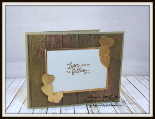 Masculine Valentine with Sliding Door Framelits  Lots to Love Box Framelits  Pinewood Planks Dynamic TIEF  Gold emboss powder  Copper emboss powder - 2