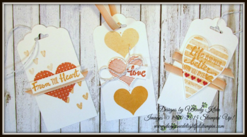 Heart Happiness  Petal Palette  Scallop Tag Topper Punch  Calypso Coral Ombre Ribbon - 4