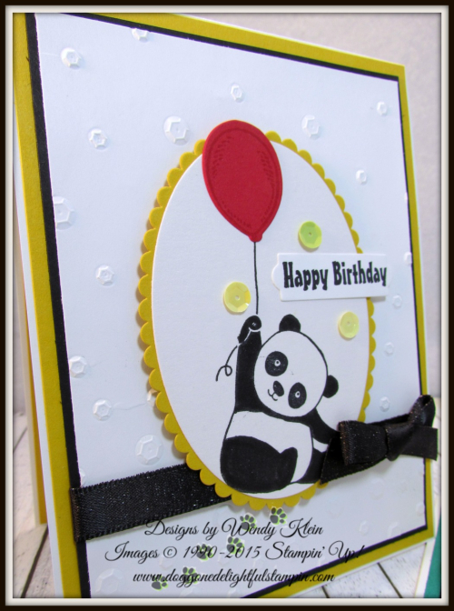 Party Pandas  Birthday Delivery  Scattered Sequins Dynamic TIEF  Layering Ovals  Layering Circles  Bunch of Banners  Shimmer Basic Black Ribbon - 3