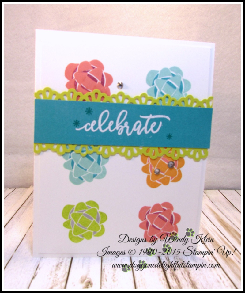 Picture Perfect Birthday  Decorative Ribbon Border Punch  White Stampin' Emboss Powder - 1