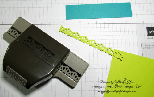 Making a border for the Picture Perfect Birthday card - by Wendy Klein for Doggone Delightful Stampin 1