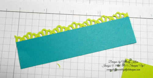 Making a border for the Picture Perfect Birthday card - by Wendy Klein for Doggone Delightful Stampin 3