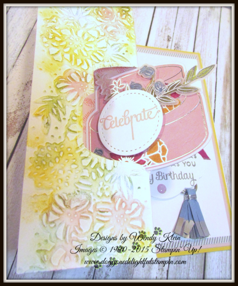 Cake Soiree  Sweet Cake Framelits  Sweet Soiree Embellishments Kit  Petal Pair TIEF  Flip Fold Card - 6